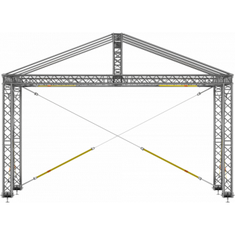 GRD30M1008 - Two-slope roof, 10x8x4.5 m #2