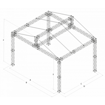 GRD30M1008 - Two-slope roof, 10x8x4.5 m #16