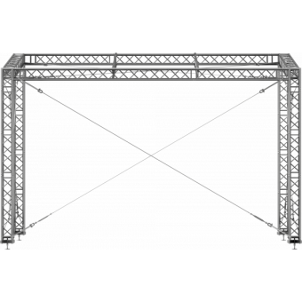 GRS30M0806 - Flat roof structure, 8x6x5 m #2