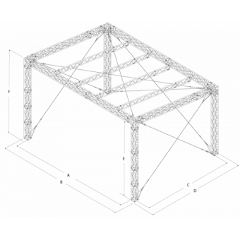 GRS30M0806 - Flat roof structure, 8x6x5 m #16