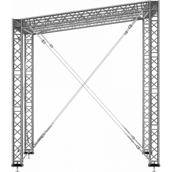 GRS30M0806 - Flat roof structure, 8x6x5 m #3