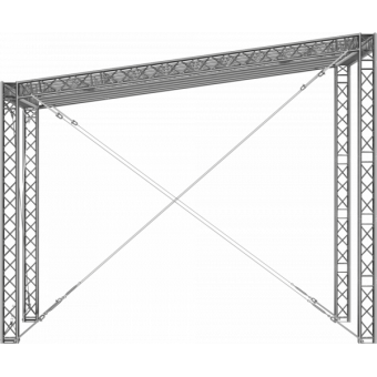 GRS30M0806 - Flat roof structure, 8x6x5 m #7