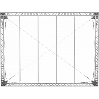 GRS30M1008 - Flat roof structure, 10x8x5 m #8