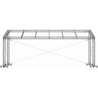 GRS30M1008 - Flat roof structure, 10x8x5 m #10