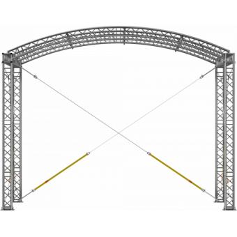 GRA30M0604 - Curved roof, truss, 6x4x4.5 m #2