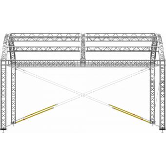 GRA30M0604 - Curved roof, truss, 6x4x4.5 m #12
