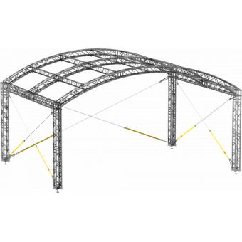 GRA30M0604 - Curved roof, truss, 6x4x4.5 m #5
