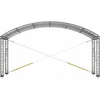 GRA30M0604 - Curved roof, truss, 6x4x4.5 m #6