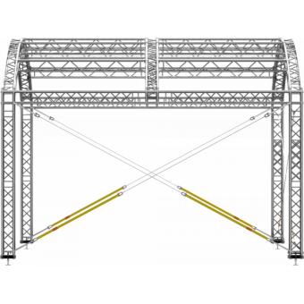 GRA30M0604 - Curved roof, truss, 6x4x4.5 m #7