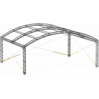 GRA30M0604 - Curved roof, truss, 6x4x4.5 m #9