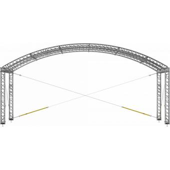 GRA30M0604 - Curved roof, truss, 6x4x4.5 m #10