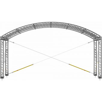 GRA30M1008 - Curved roof, truss, 10x8x5 m #6
