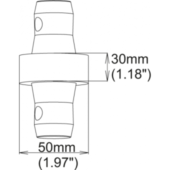 SPACER5030 - 30mm male spacer for tubes of 50mm diameter #3