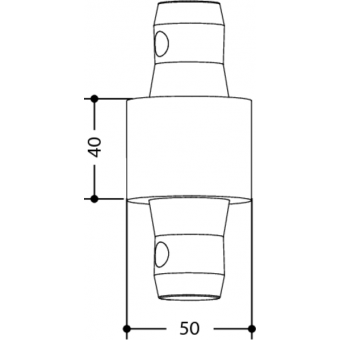 SPACER5040 - 40mm male spacer for tubes of 50mm diameter #2