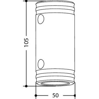SPACER5105 - Aluminium female spacer 105mm x Ø50mm #2