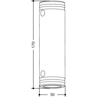 SPACER5170 - Aluminium female spacer 170mm x Ø50mm #2