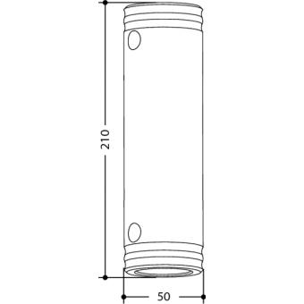 SPACER5210 - Aluminium female spacer 210mm x Ø50mm #2