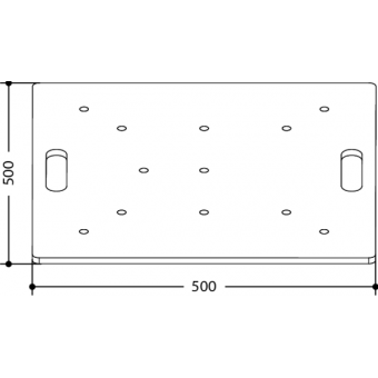 FPU5050 - Universal aluminium floor plate for square section trusses, dim. (WxH) 500x500mm #2