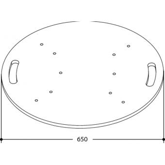 FPU65R - Universal circular floor plate for aluminium trusses, dimensions 650mm #2