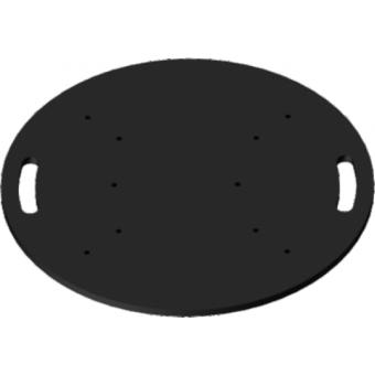 FPU65R - Universal circular floor plate for aluminium trusses, dimensions 650mm