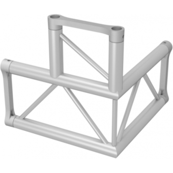 ALH32L30H - 3-way L corner for ALH32Series, extrude tube 50x3mm, 2x ALFCF5 included, Horiz.