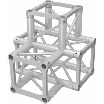 ALH34T40 - 4-way T joint for ALH34  Series, extrude tube 50x3mm, 2x ALFCQ5 included