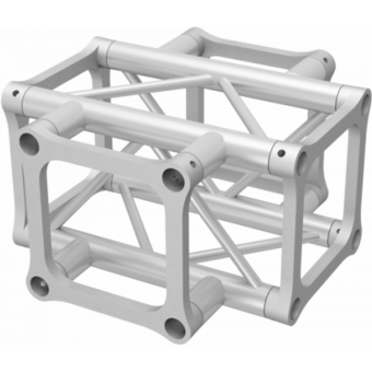 ALH34X40 - 4-way X joint for ALH34  Series, extrude tube 50x3mm, 2x ALFCQ5 included