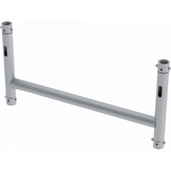 LF5H1075AL - 4-way H joint, Ø50mm, 4-pin self-locking nuts, d. 1000x750mm, AL