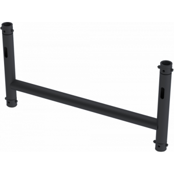 LF5H1075BK - 4-way H joint, Ø50mm, 4-pin self-locking nuts, d. 1000x750mm, BK #2
