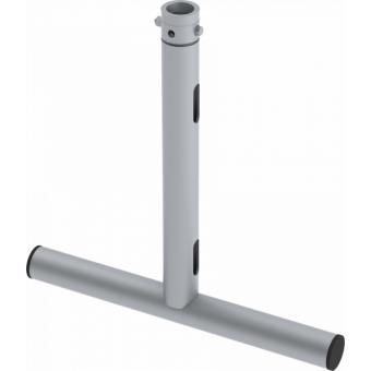 LF5T2145AL - 1-way T joint, Ø50mm, 1-pin self-locking nut, d. 220x460mm, AL