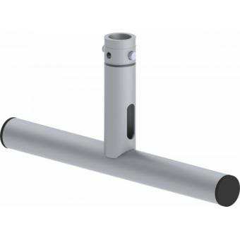 LF5T2145BK - 1-way T joint, Ø50mm, 1-pin self-locking nut, d. 220x4600mm, BK #3