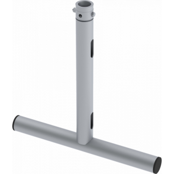 LF5T4645BK - 1-way T joint, 470x460mm, Ø 50mm, Connection kit included, 1,17kg, BK