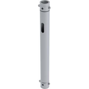 LF5P050BK - 2-way extruded tube, 2-pin self-locking nuts, 500mm, BK