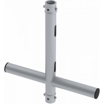 LF5X5046AL - 2-way X joint, Ø50mm, 2-pin self-locking nuts, 500x460mm, AL
