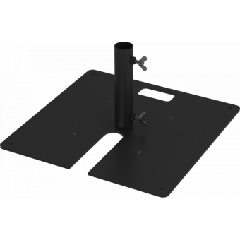 LF5BF58AL - Base plate compatible with extruded tubes Ø48,3mm, AL #2
