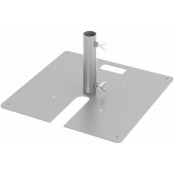 LF5BF58BK - Base plate compatible with extruded tubes Ø48,3mm, BK
