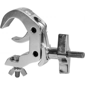 C6016B - Quick-trigger slim clamp, 250Kg load, 48-51mm tubes, M10 bolt incl, Black