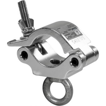 C6017B - Heavy-load aluminum clamp, 200kg loa, 48-51mm tubes, with lifting eye, Black #2