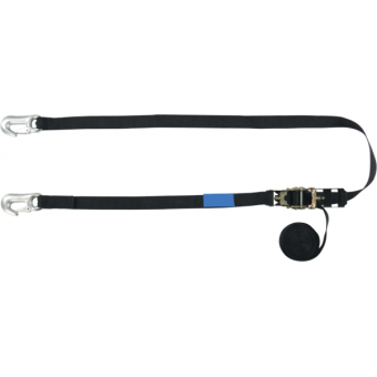 RHHR2540 - Tensioning belt ratchet, swivel zinc-plated hooks, 50mm, L.4m, 2500kg capacity #2