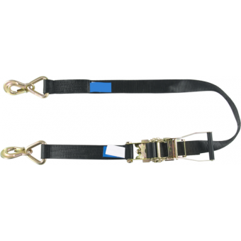RHHR2540 - Tensioning belt ratchet, swivel zinc-plated hooks, 50mm, L.4m, 2500kg capacity