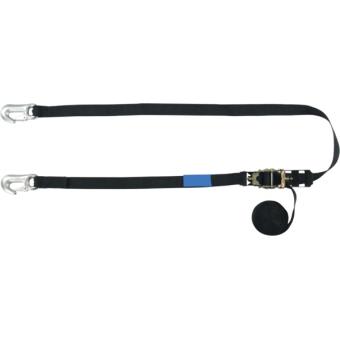 RHHR0440 - Tensioning belt ratchet, swivel zinc-plated hooks, 25mm, L.4m, 400kg capacity #2