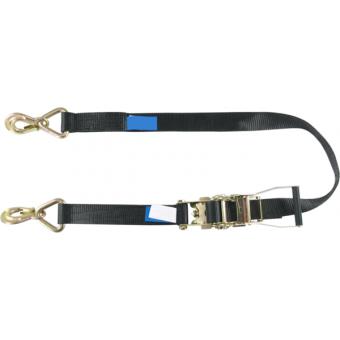 RHHR0480 - Tensioning belt ratchet, swivel zinc-plated hooks, 25mm, L.8m, 400kg capacity