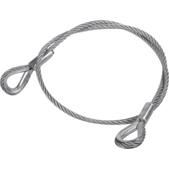 RARD10L150 - Metal core ropes with stainless steel thimble, 10 mm, 1279/2558 Kg, L.150