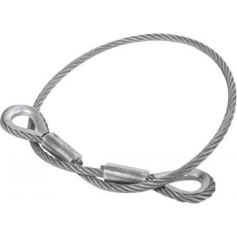 RARD14L300 - Metal core ropes with stainless steel thimble,14mm,2600/5200Kg,L.300