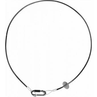 RSR0630B - Steel security cable for hanging bodies, inox steel shackle, L=60 cm, black #4