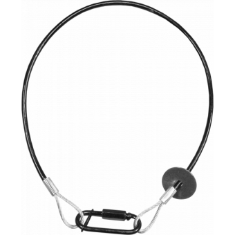 RSR0670A - Steel security cable for hanging bodies, inox steel shackle, L=60 cm, silver #2