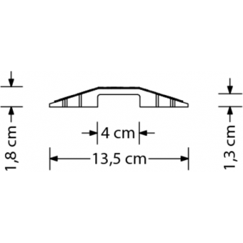 CC113 - Pedestrian Cable Cross, 1 cable duct (LxH) 38x13mm, size (WxHxD) 100x1,8x13,5cm #3