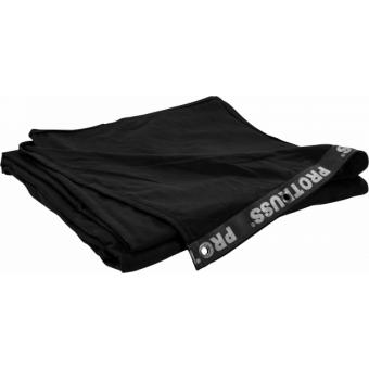 SMG324560BK - Stage backdrop, flame retardant fabric, 320 g/sqm, black, 450x600cm