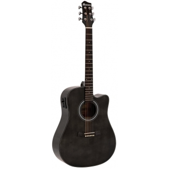 DIMAVERY electro-acoustic guitar STW-90 Western Vintage