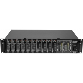 Mixer Rack ProAudio MZX1002 2-Zone, 2U rack, equipped with 10 inputs and 2 assignable outputs